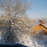Blick vom Balkon-Winterlandschaft-