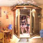 Entspannung finden Sie in der Infrarotwärmekabine mit Lichttherapie