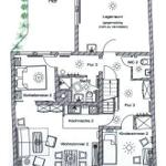 Grundriss Obergeschoss: Wohnung 2 (und Lagerraum)