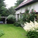 Garten mit überdachtem Grillplatz
