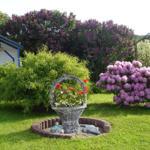 Schön angelegter Gartenbereich. Gartenmöbel,  Sitzgelegenheiten, Grill u.Wäscheplatz vorhanden.