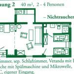 Wohnungsgrundriss Wohnung 2