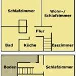 Grundriss der Wohnung 1 85m²  2-7 Personen
