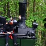 Harzbahn-Schnappschuß eines Urlaubsgastes zu Walpurgis