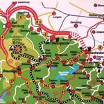 Lageplan mit der Zufahrt zu Ferienhaus über die B 6N  nach Wemdefurth