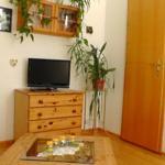 Wohnzimmer mit TV und CD Radio