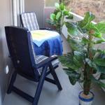 Balkon mit Relaxliegen