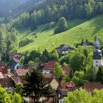 Blick vom Bromberg auf die Bergstadt Lautenthal