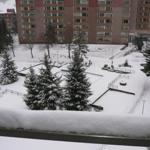 Blick vom Balkon (Winter)