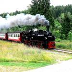 Mit dem Dampfzug von Wernigerode über Drei-Annen-Hohne, Schierke zum Brocken