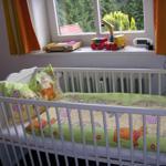 Babybett auf Wunsch zubuchbar