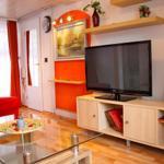 Erdgeschoss: Wohnzimmer mit LCD TV, Sat und DVD