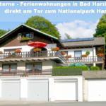 ruhige, sonnige Lage direkt am Waldrand. PKW-Garage (gratis) für jede Ferienwohnung vorhanden.