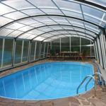 Pool: geschlossene Überdachung