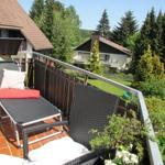 Balkon mit Liege