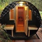 unsere Sauna im Wald