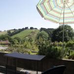 Blick vom Balkon zum Matthias-Schmidt-Berg