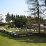 Blick über den Ferienpark im Sommer