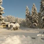Blick über den Ferienpark im Winter
