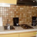 Küchenzeile kompl.mit Kühlschrank, Mikrowelle etc.