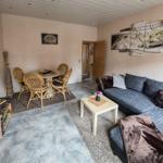 Wohnzimmer mit Schlafcouch , Liegefläche 175x205