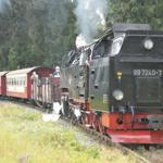 Die Schmalspurbahn zum Brocken mit 1143mtr