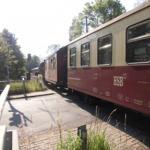 Einfahrt in den Harzgeröder Kopfbahnhof mit der Harzer Schmalspurbahn!