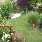Terrassenblick in den Garten