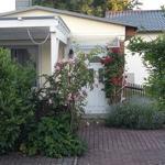 Ferienhaus mit überdachter  Terrasse.