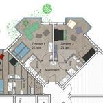 Grundriss der beiden Wohnungen