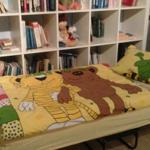 Gästebett 80 cm breit , man kann bequem  darauf  schlafen