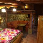 Blockhaus 1 - Wohn - Schlafbereich mit Schlafboden