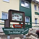 hauseigene Verleihstation mit Ski + Schlitten sowie Mountainbike + E-Bike