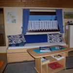 Kojenbett für 3. Person (z.B. 1 Kind) und zugleich auch als Couch