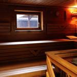 Wer mag kann auch in der Sauna abschalten und Entspannen.