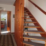 Treppenhaus zur Verbindung der Schlafzimmer und Bad.