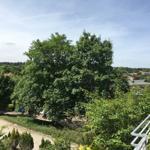 Ausblick vom Balkon in Richtung Ortsmitte...