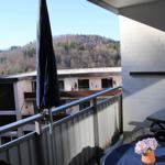Blick vom Balkon des Schlafzimmers