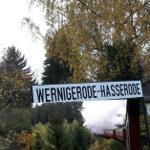 Bahnhof der Harzquerbahn- Richtung Brocken