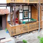 Blick vom Innenhof zum Balkon