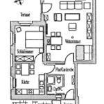 Grundriss der FeWo Fuchsbau, Wernigerode, Küsterskamp 3