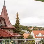 Süd-Ostbalkon mit Blick auf Rathaus und Stadtpark