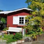 Gartenteich mit Verandahaus