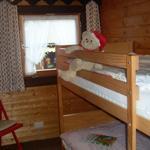 das Kinderzimmer mit Doppelstockbett