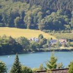 Blick von der Terrasse zum Hennesee