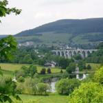 Blick vom Stryck auf Willingen mit Viadukt