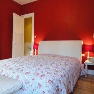 Apartment-Blankenese Zimmer rot - Hamburg