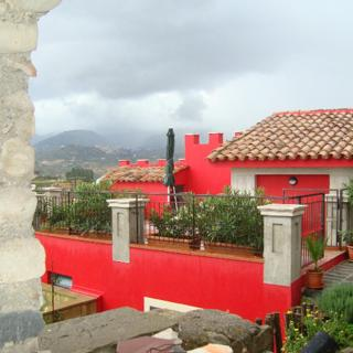 Castello Rosso im Landhaus Borgo al Costa - Rodi Milici