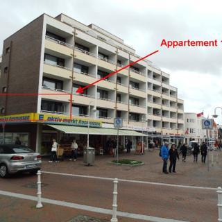 """Strandstrasse - sehr strandnah mit Südbalkon, Fußgängerzone, 1 Zi. """"Betriebsferien vom 11.11. - 10.12."""" - Westerland"""