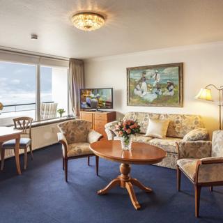 Monbijou Hotelappartments - Wohnung 49a: 1-Zimmer Wohnung mit Seeblick - Westerland